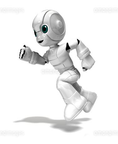 走る少年ロボットのイラスト素材 [FYI01772730]