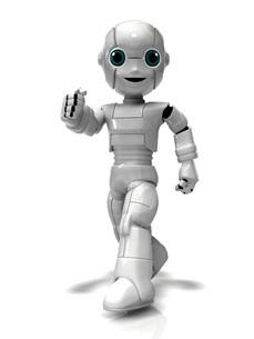 歩く少年ロボットのイラスト素材 [FYI01772744]
