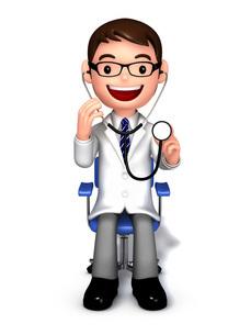 聴診器で診察する医師のイラスト素材 [FYI01772754]