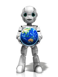 地球を抱える少年ロボットのイラスト素材 [FYI01772756]