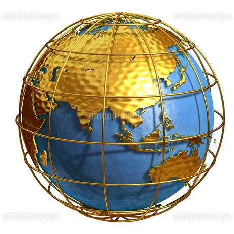 ゴールド地球アジアのイラスト素材 [FYI01772769]
