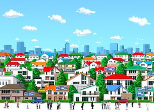 住宅街のイラスト素材 [FYI01772772]