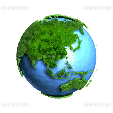 芝生地球アジアのイラスト素材 [FYI01772773]