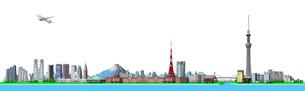東京の街並み1白バックのイラスト素材 [FYI01772792]