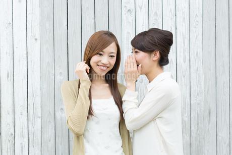 内緒話をする若い女性の写真素材 [FYI01775978]
