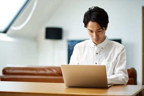 パソコンを使う男性の写真素材 [FYI01776793]