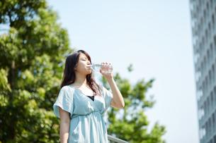 水分補給する若い女性の写真素材 [FYI01777017]