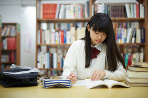 図書館で勉強する学生の写真素材 [FYI01777205]