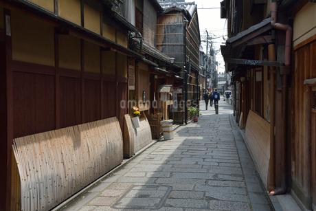 祇園白川の町並みの写真素材 [FYI01778156]