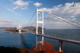 12月初冬 しまなみ海道の来島第三大橋の写真素材 [FYI01778306]