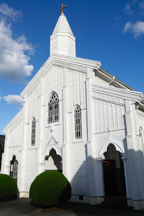 11月 五島列島の水ノ浦教会の写真素材 [FYI01778352]