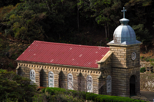 11月 五島列島の頭ヶ島教会 西日本唯一の石造り教会の写真素材 [FYI01778415]