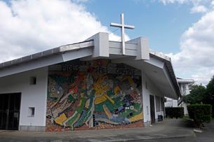 12月 五島列島の三井楽(岳)教会の写真素材 [FYI01778478]