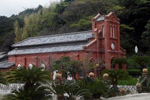 11月 五島列島の堂崎天主堂の写真素材 [FYI01778522]