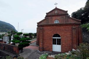 11月 五島列島の福見教会の写真素材 [FYI01778563]