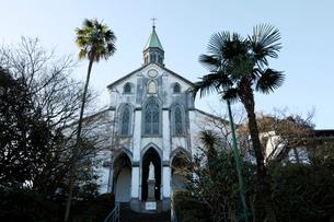 2月,長崎の大浦天主堂の写真素材 [FYI01778678]