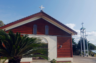 12月 五島列島の嵯峨ノ島教会の写真素材 [FYI01778730]