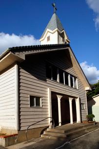 11月 五島列島の貝津教会の写真素材 [FYI01778859]