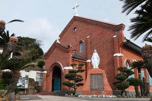 1月 長崎県外海の黒崎教会堂の写真素材 [FYI01778902]