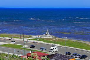 宗谷岬の「日本最北端の地の碑」の写真素材 [FYI01779190]