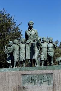 11月 小豆島の平和の群像 二十四の瞳像の写真素材 [FYI01779501]