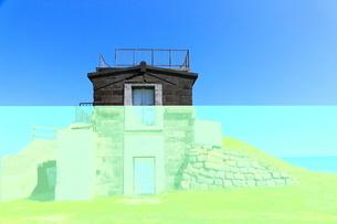 宗谷岬の旧海軍望楼日露戦争の建築物の写真素材 [FYI01779576]
