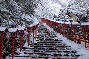 2月 雪化粧の貴船神社-京都の冬-の写真素材 [FYI01779803]