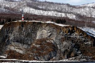 2月 知床半島の安山岩柱状節理の写真素材 [FYI01779908]