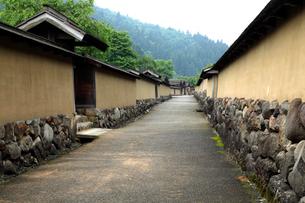 5月 一乗谷朝倉氏遺跡の復元された町並みの写真素材 [FYI01779934]