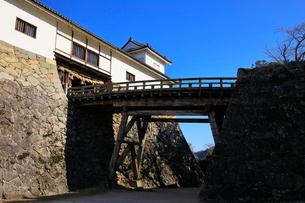 1月 青空の彦根城 太鼓門と続櫓の写真素材 [FYI01780342]