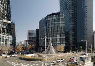 JR名古屋駅前のロータリーの写真素材 [FYI01780399]