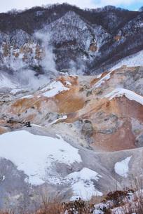 地獄谷の冬の写真素材 [FYI01780459]