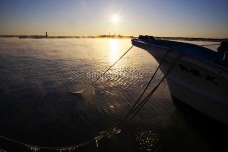 標津漁港の朝の写真素材 [FYI01780578]