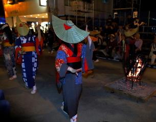 8月 秋田の西馬音内盆踊りの写真素材 [FYI01781019]