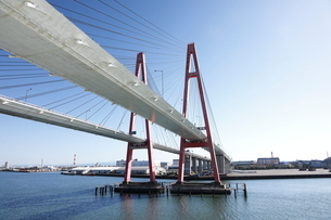 10月 名港西大橋の写真素材 [FYI01781198]
