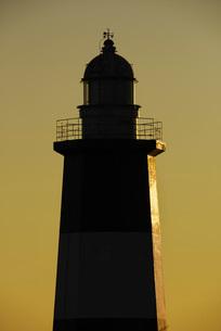 能取岬灯台の朝の写真素材 [FYI01781270]