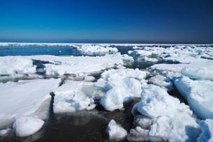 野付半島の流氷の写真素材 [FYI01781773]