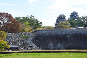 熊本地震後の熊本城の写真素材 [FYI01781814]