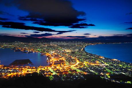 函館夜景(朝)の写真素材 [FYI01781909]