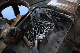 ムラーノ島のベネチアン・グラスの工房の写真素材 [FYI01782048]