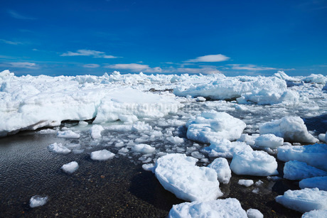 野付半島の流氷の写真素材 [FYI01782321]