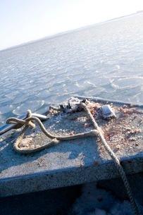 氷の海をかき分けて進むボートの写真素材 [FYI01782374]