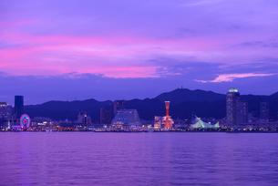 神戸港の夕景の写真素材 [FYI01782467]