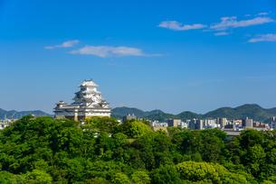 姫路城と姫路市街の景観の写真素材 [FYI01782583]