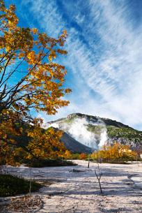 硫黄山の秋の写真素材 [FYI01782892]