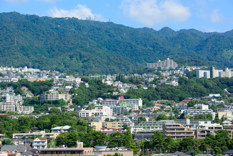 神戸市 六甲山麓の住宅の写真素材 [FYI01782946]