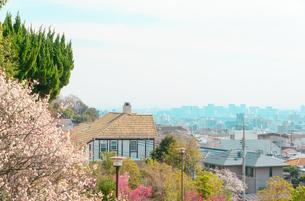 岡本梅林公園と阪神間の街並みの写真素材 [FYI01782989]