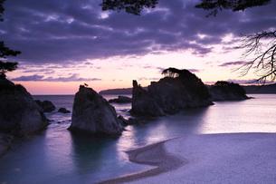 浄土ヶ浜の朝の写真素材 [FYI01783284]