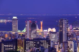 神戸市街の夜景の写真素材 [FYI01783288]