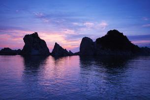 浄土ヶ浜の朝の写真素材 [FYI01783339]